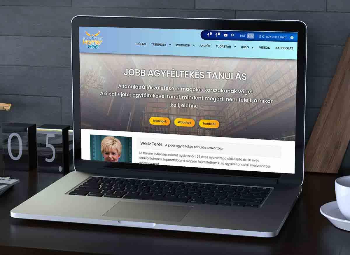 Weitz Teréz weboldala
